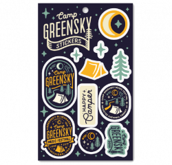 2019 Camp Greensky Sticker Sheet