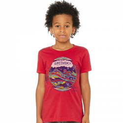 Youth Tee - Geo Design - Red