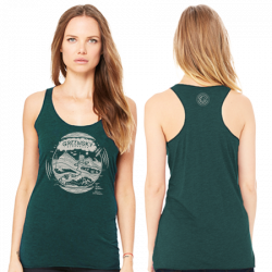 Emerald Triblend - Geo Design Women's Tank