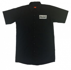 Logo Patch Work Shirt (Black)