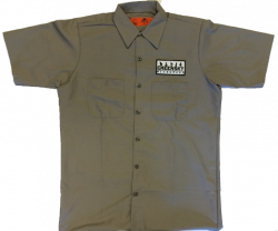 Logo Patch Work Shirt - Gray