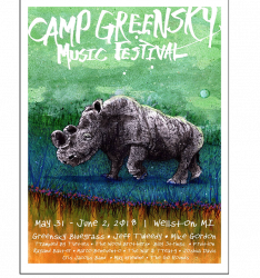 Camp Greensky Rhino Poster (2018)