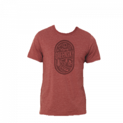 Camp Greensky Unisex Tee - Heather Burgandy