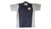 Two-tone Bear Patch Work Shirt