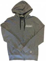 Grey Embroidered Fleece Lined Hoodie
