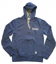 Blue Eco Hoodie Embroidered Logo