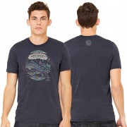 Geo Design Unisex Tee - Heather Navy