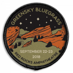 Red Rocks 2018 Woven Patch - Night Time Design