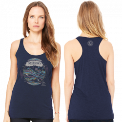 Navy Triblend - Geo Design Women's Tank